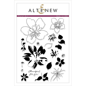 Altenew FLORAL ART Clear Stamps ALT2472