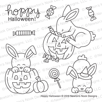 Newton's Nook Designs HOPPY HALLOWEEN Clear Stamps NN1808S03