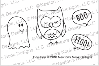 Newton's Nook Designs BOO HOO Clear Stamps NN1808S06