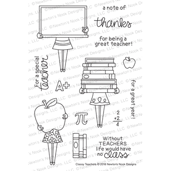 Newton's Nook Designs CLASSY TEACHERS Clear Stamps NN1808S02
