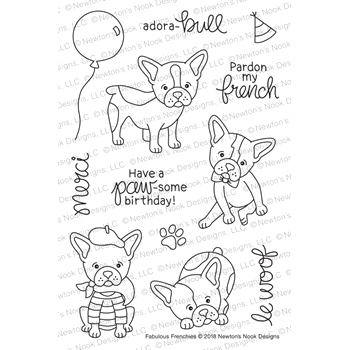 Newton's Nook Designs FABULOUS FRENCHES Clear Stamps NN1808S01