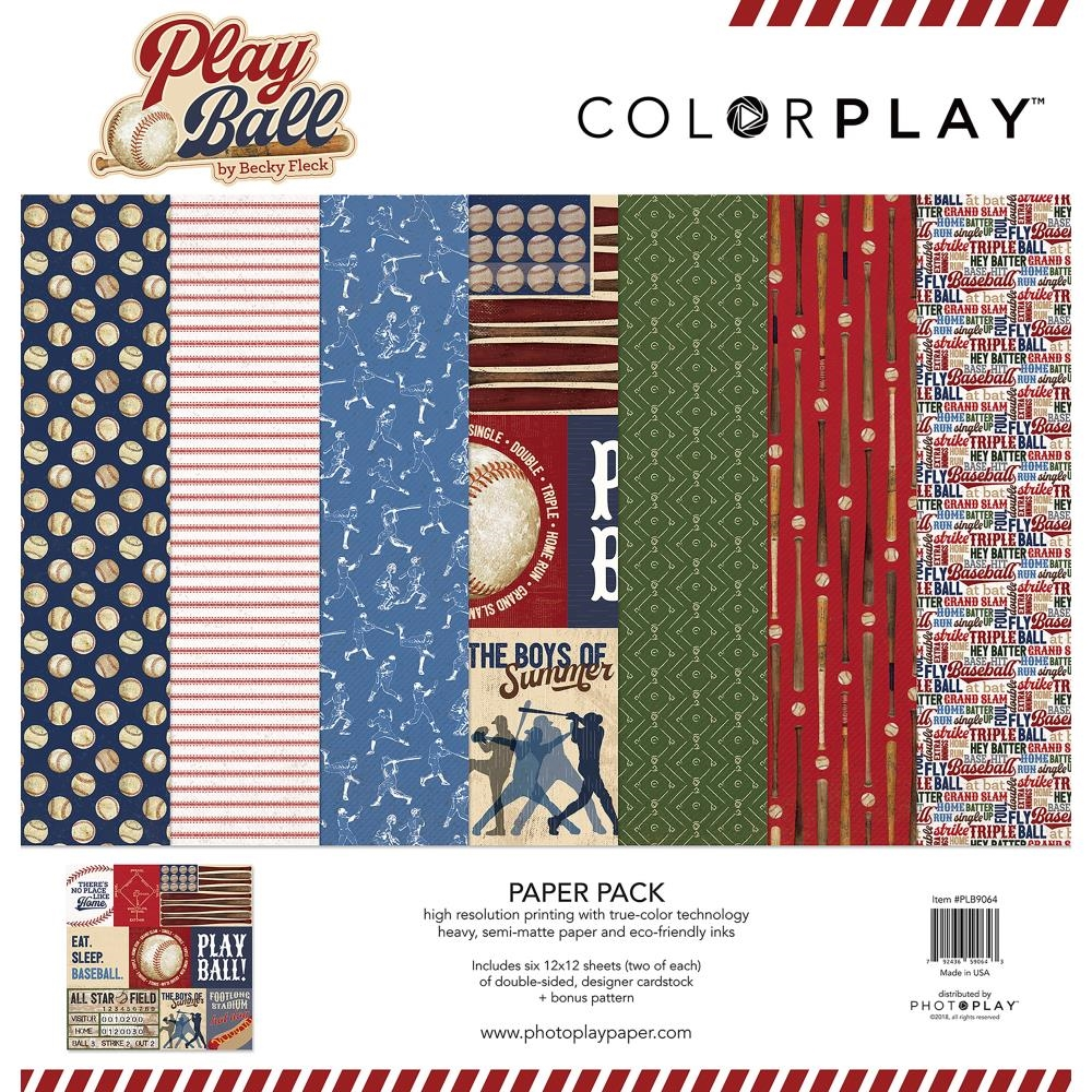 PhotoPlay PLAY BALL 12 x 12 Collection Pack plb9064 zoom image