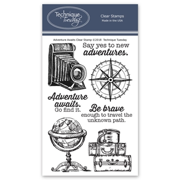 Technique Tuesday ADVENTURE AWAITS Clear Stamps 02697
