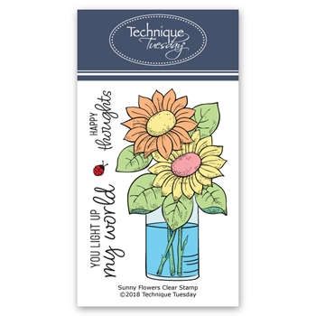 Technique Tuesday SUNNY FLOWERS Clear Stamps 02700