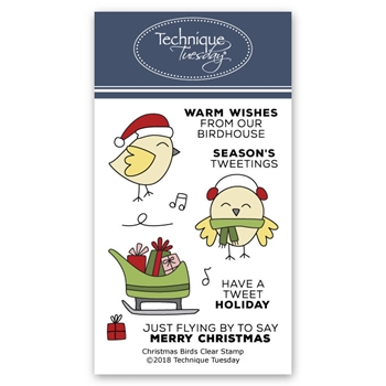 Technique Tuesday CHRISTMAS BIRDS Clear Stamps 02709