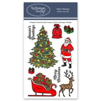 Technique Tuesday VINTAGE CHRISTMAS Clear Stamps 02699