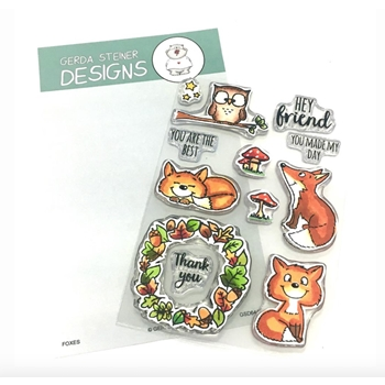 Gerda Steiner Designs FOXES Clear Stamp Set gsd644