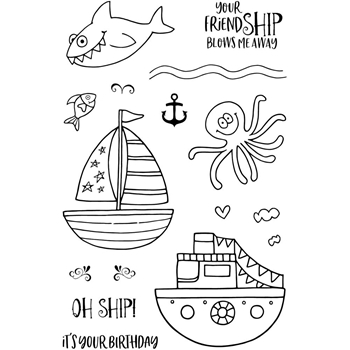 Jane's Doodles OH SHIP Clear Stamp Set 743399