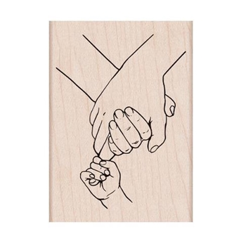 Hero Arts Rubber Stamp HOLDING HANDS H6300