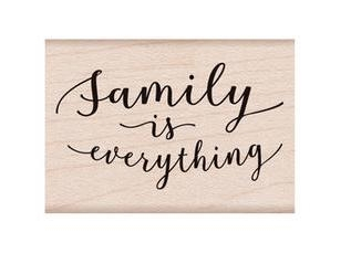 Hero Arts Rubber Stamp FAMILY IS EVERYTHING D6299