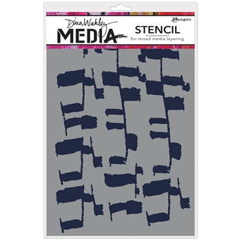 Dina Wakley LADDERS Media Stencil MDS63179
