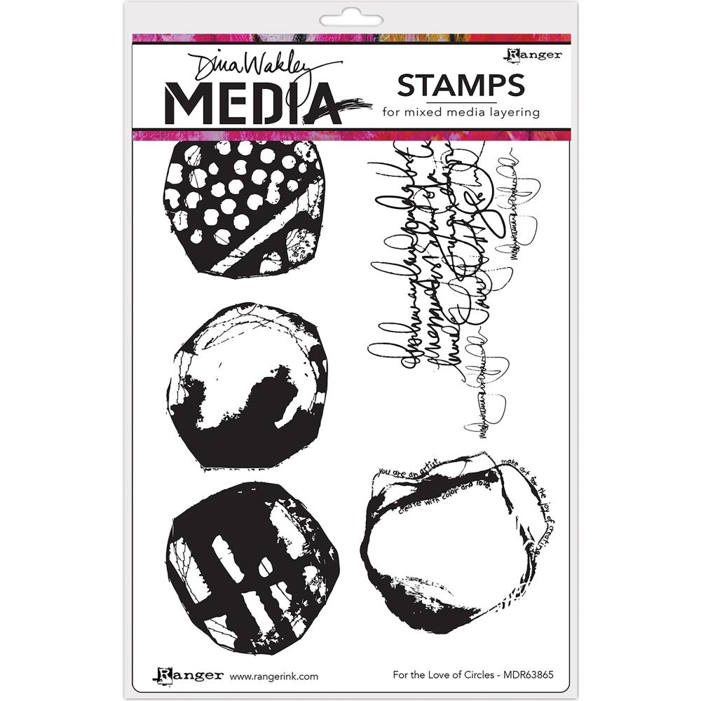 Dina Wakley FOR THE LOVE OF CIRCLES Media Cling Rubber Stamp MDR63856 zoom image