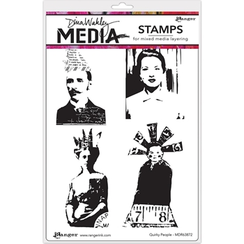 Dina Wakley QUIRKY PEOPLE Media Stencil MDS63872