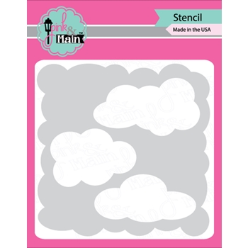 Pink and Main CLOUDS Stencil PMS004