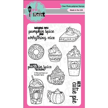 Pink and Main PUMPKIN SPICE Clear Stamps PM0297