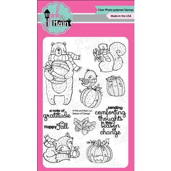 Pink and Main SEASON OF CHANGE Clear Stamps PM0298