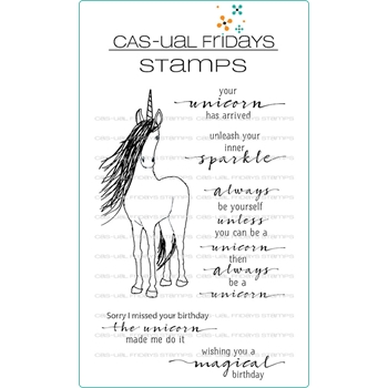 CAS-ual Fridays BE A UNICORN Clear Stamps CFS1815