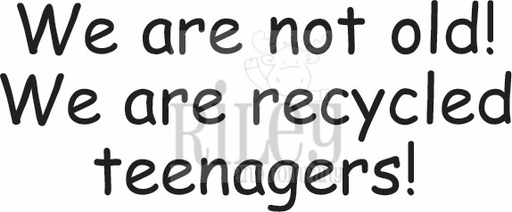 Riley and Company Funny Bones RECYCLED TEENAGERS Cling Rubber Stamp RWD-655 zoom image