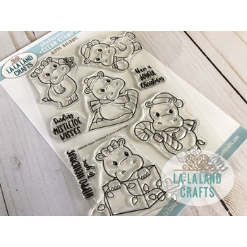 La-La Land Crafts Clear Stamps HIPPO HOLIDAYS CL008