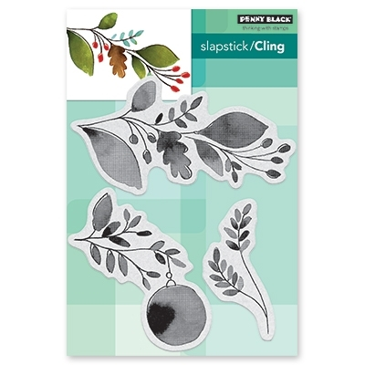 Penny Black Cling Stamp XMAS SPRIG 40-628