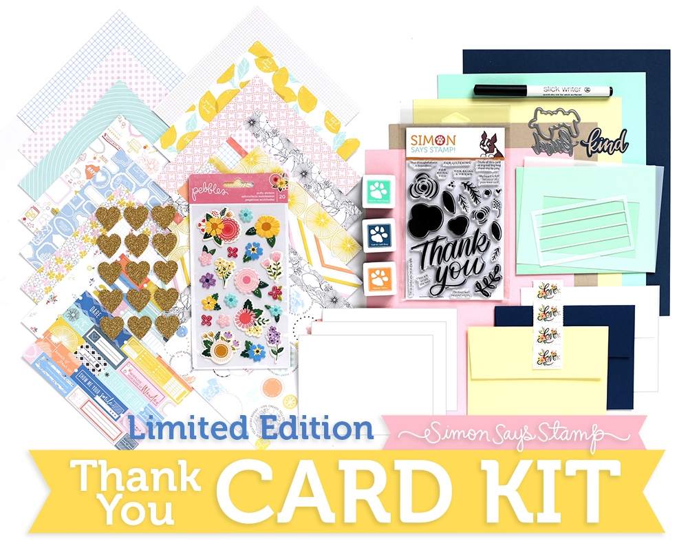 Limited Edition Simon Says Stamp Card Kit THANK YOU SSSTHKU zoom image