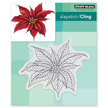 Penny Black Cling Stamp CHRISTMAS POINSETTIA 40-649