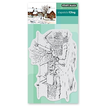 Penny Black Cling Stamp TRANQUIL HAMLET 40-654