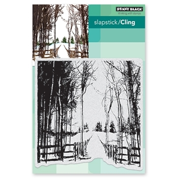 Penny Black Cling Stamp SNOW TRAILS 40-655