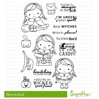 SugarPea Designs BEWITCHED Clear Stamp Set spd-00313