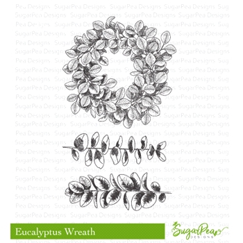 SugarPea Designs EUCALYPTUS WREATH Clear Stamp Set spd-00320