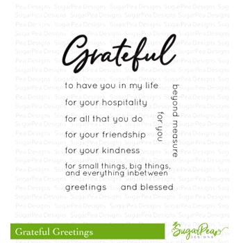 SugarPea Designs GRATEFUL GREETINGS Clear Stamp Set spd-00321
