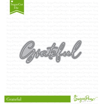 SugarPea Designs GRATEFUL WORD SugarCuts Dies spd-00322