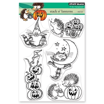 Penny Black Clear Stamps STACK O'LANTERNS 30-493