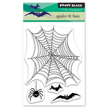 Penny Black Clear Stamps SPIDER AND BATS 30-492
