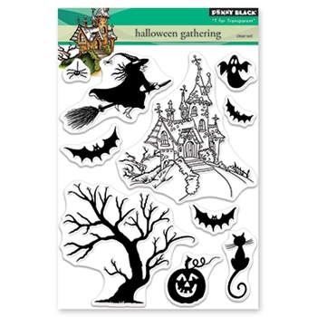 Penny Black Clear Stamps HALLOWEEN GATHERING 30-490