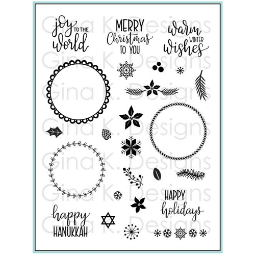 Gina K Designs HOLIDAY WREATH BUILDER Clear Stamps 3580 Preview Image