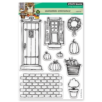 Penny Black Clear Stamps AUTUMN ENTRANCE 30-489