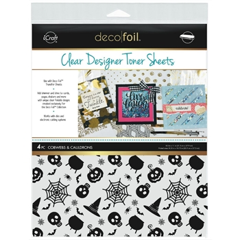 Therm O Web COBWEBS AND CAULDRONS Clear Designer Toner Sheets Deco Foil 5526
