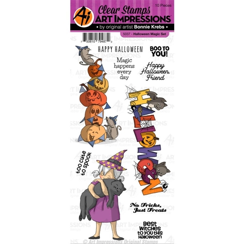 Art Impressions HALLOWEEN MAGIC Clear Stamps 5037 Preview Image