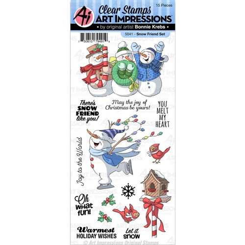 Art Impressions SNOW FRIEND Clear Stamps 5041 Preview Image