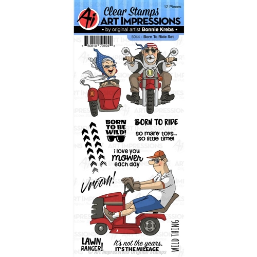 Art Impressions BORN TO RIDE Clear Stamps 5044 Preview Image