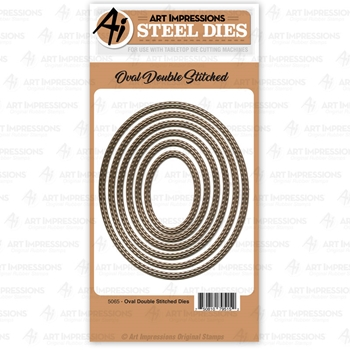 Art Impressions OVAL DOUBLE STITCHED Steel Dies 5065