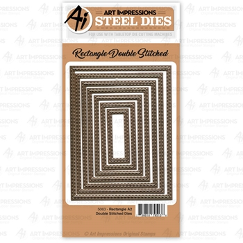 Art Impressions RECTANGLE A2 Double Stitched Steel Dies 5063