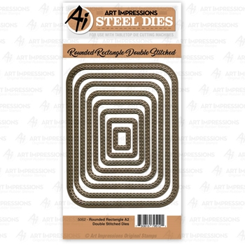 Art Impressions ROUNDED RECTANGLE A2 DOUBLE STITCHED Steel Dies 5062
