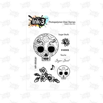Inkon3 SUGAR SKULL Clear Stamp Set 98727