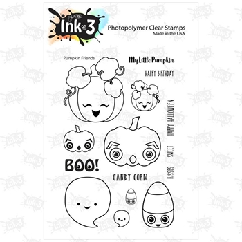 Inkon3 PUMPKIN FRIENDS Clear Stamp Set 98724