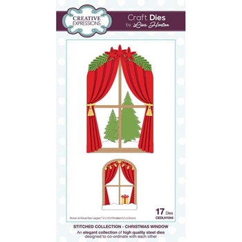 Creative Expressions CHRISTMAS WINDOW Stitched Collection Dies cedlh1044