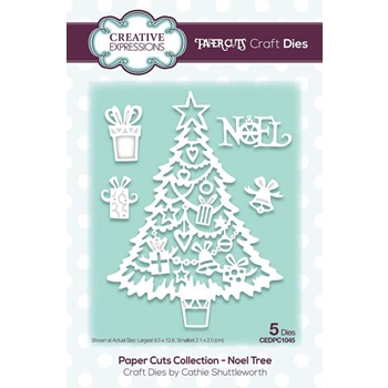 Creative Expressions NOEL TREE Paper Cuts Collection Dies cedpc1045