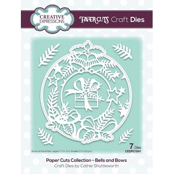 Creative Expressions BELLS AND BOWS Paper Cuts Collection Dies cedpc1041