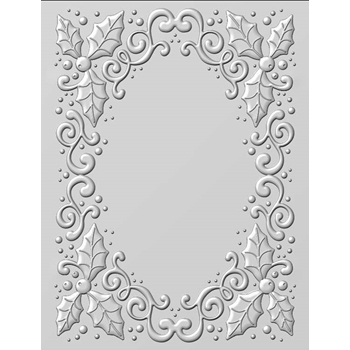 Creative Expressions HOLLY SWIRLS 3D Embossing Folder by Sue Wilson ef3d008